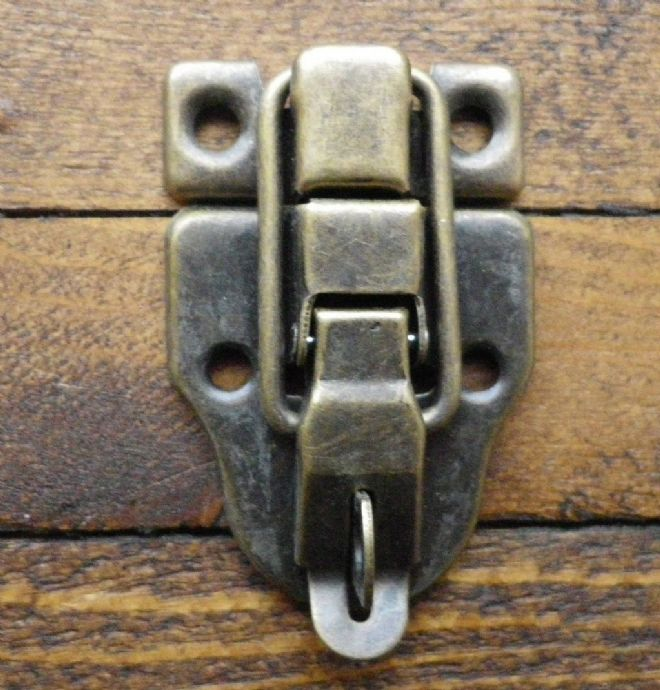 NEW Large metal buckle catch latch for medium/large box etc bronze finish C065